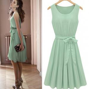 Lace Dress in Mint Color