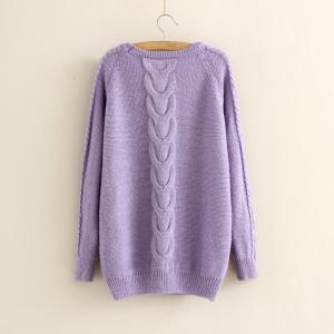 Casual Cabled Pullover Sweaters Fle..