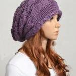 Wool handmade knitted hat