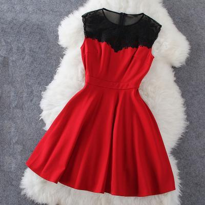 Dress in Black and Red