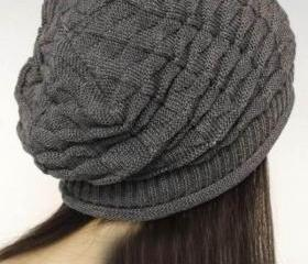 Grey Slouchy Knitted..