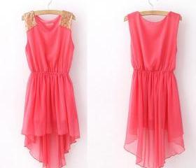 Pink High Low Dress ..