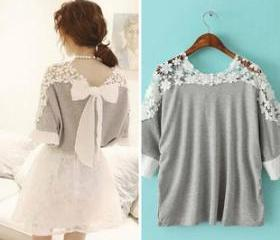 Casual Top with Bow..