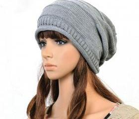 Gray Slouchy Knitted..