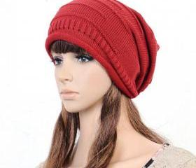 Red Slouchy Knitted ..
