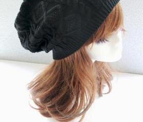 Black Cabled Knitted..