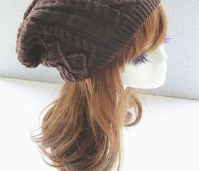 Brown Cabled Knitted..