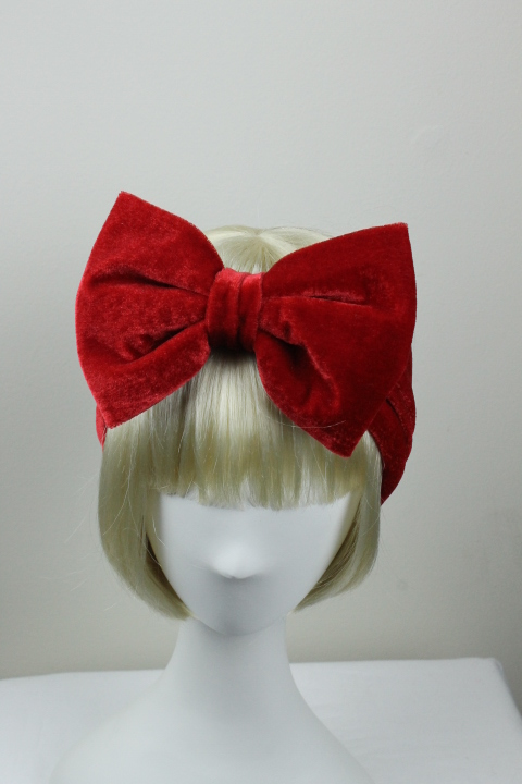 Woman Handmade Velvet Turban Headband Head Warmer With Bow Hat Cap ... 3b4563655a8