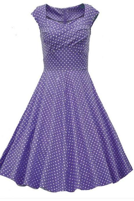 Purple Polka Dot Vintage Dress