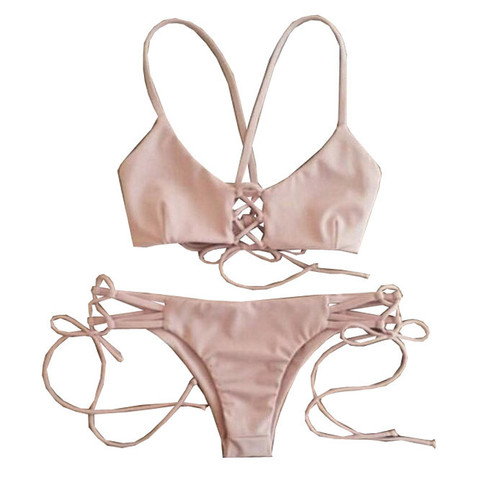 Pink Swimsuit Bikini set
